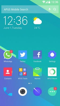 APUS Launcher home screen