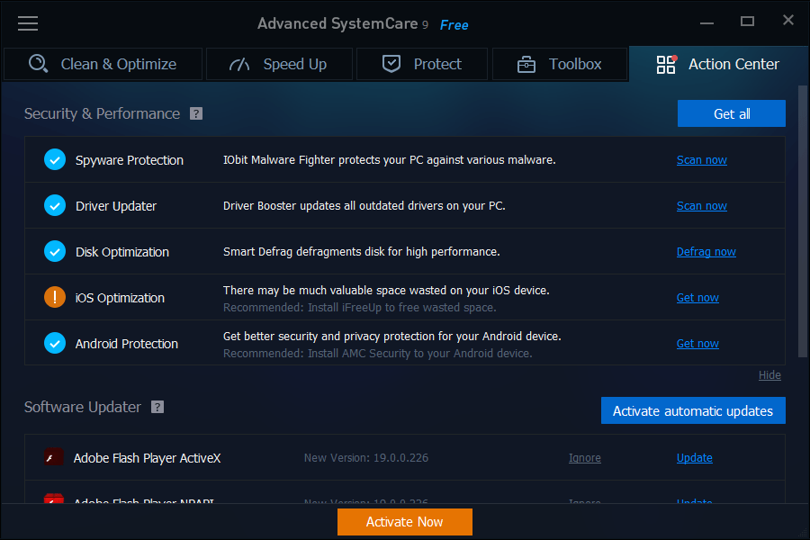 iobit-advanced-systemcare-9-classic-action-center-dashboard