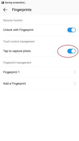 Tap fingerprint sensor to take photo2