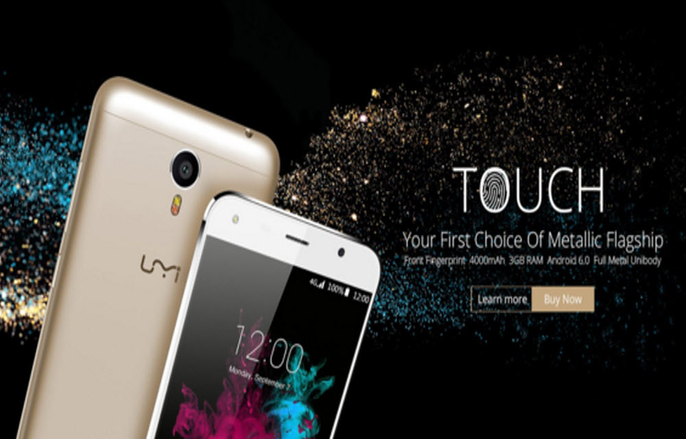 UMi TOUCH Gold color pre-sales start on 12th April