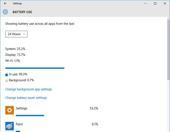 Windows 10 battery usage -3