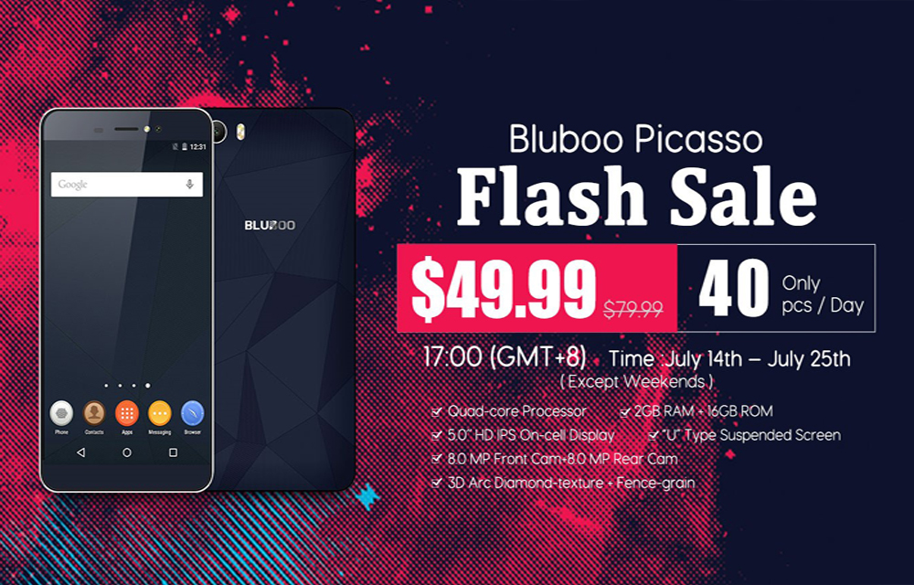 Bluboo Picasso Flash Sale started