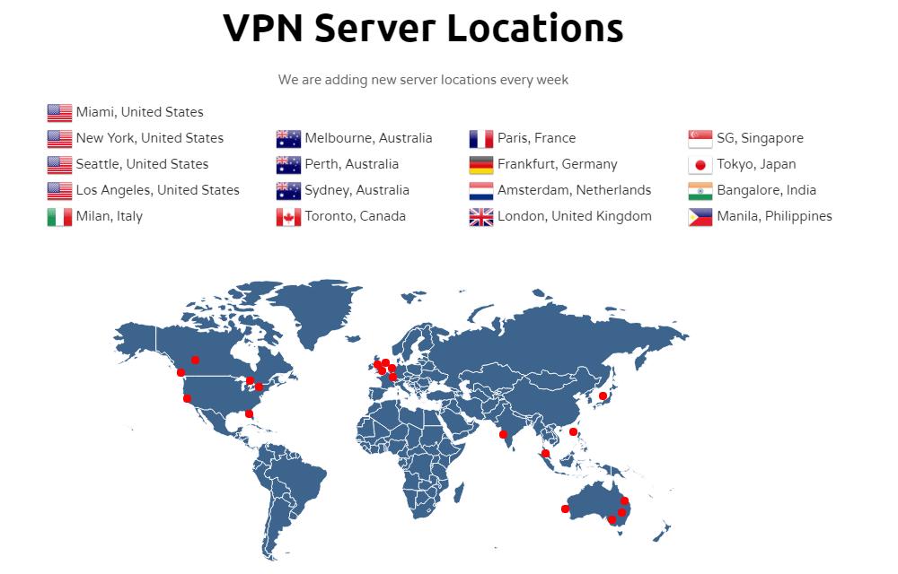 ProxyRack Free VPN Servers