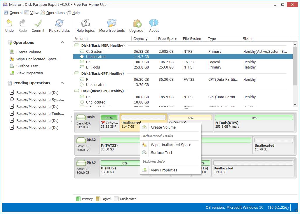 macrorit partition expert – surface test
