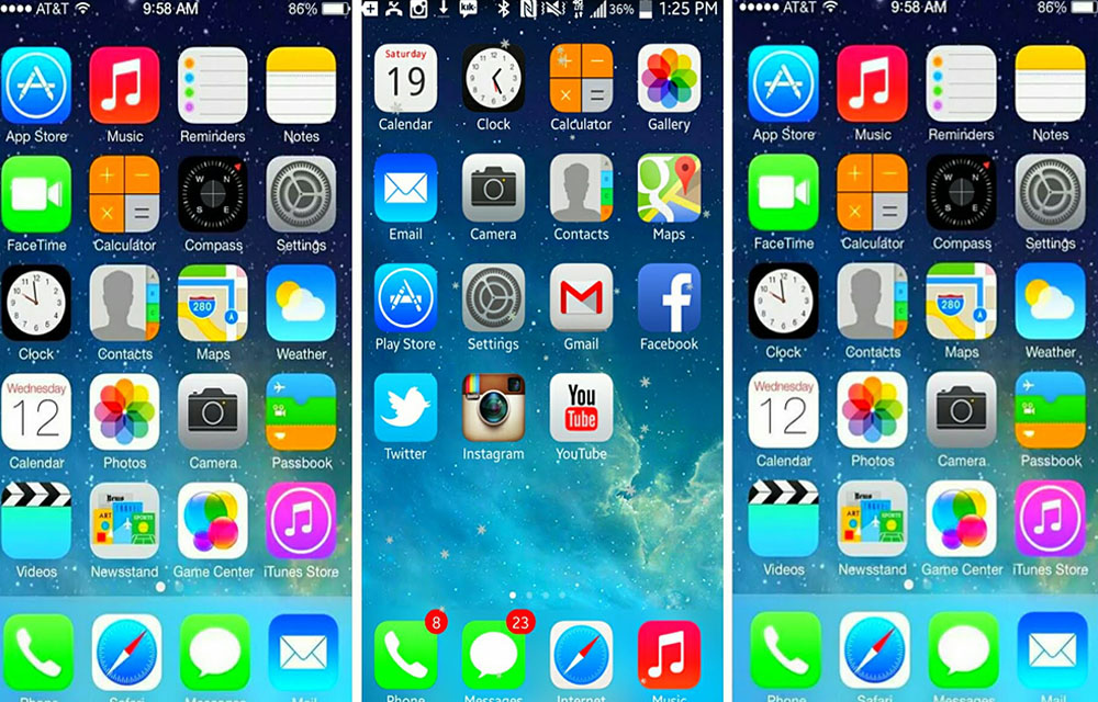 iPhone Like Launchers for Android