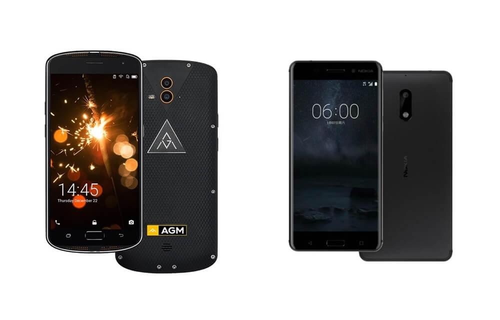 Nokia 6 vs. AGM X1 comparison