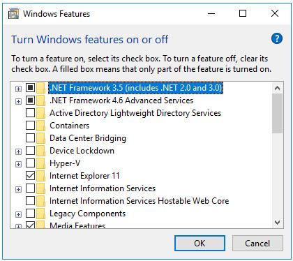 Turn Off Unneeded Windows Features