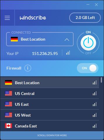 Windscribe Server Locations