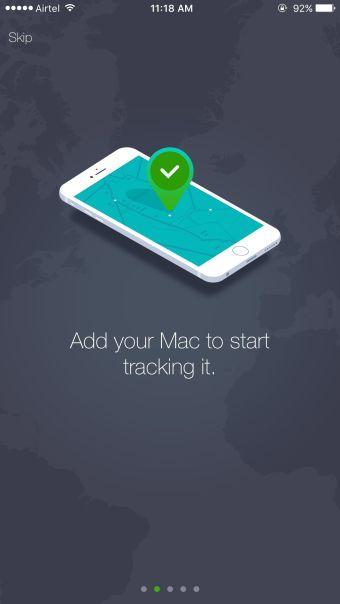 Track My Mac Welcome Screen
