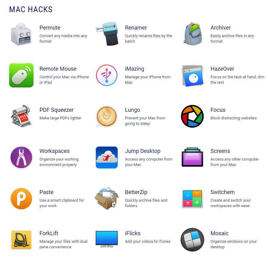Setapp Apps List