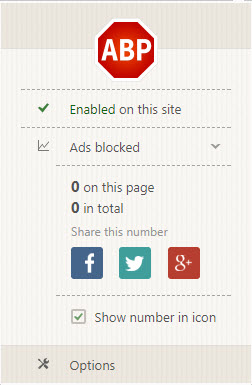 Block almost all of the annoying ads using Adblock Extension