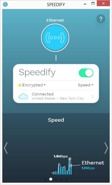 Speedify Interface