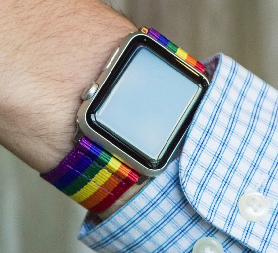 Clockwork Synergy PRIDE Rainbow Classic NATO Apple Band