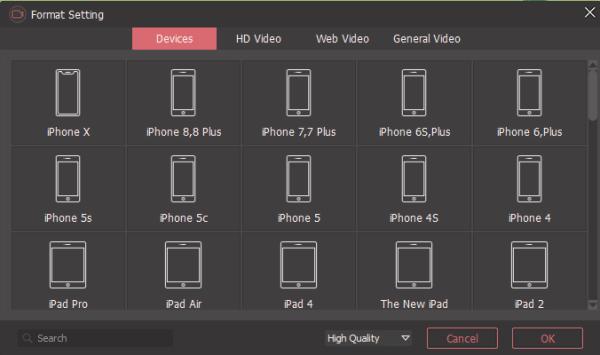 Joyoshare Screen Recorder Formats