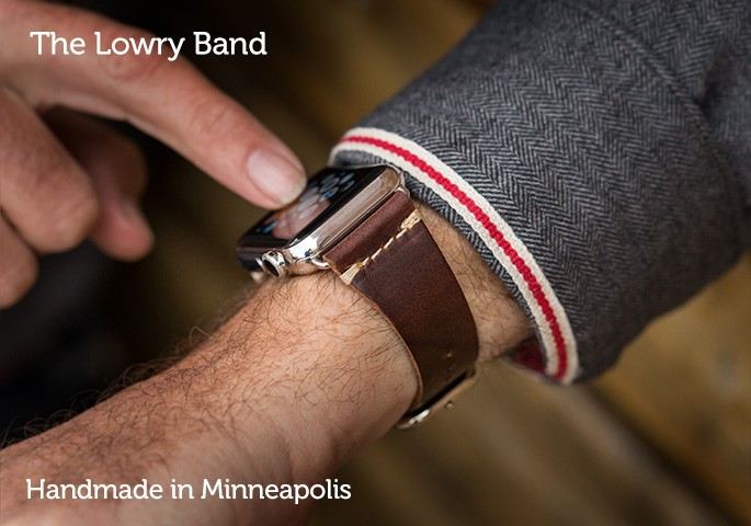 Pad & Quill Lowry Leather Band for Apple Watch