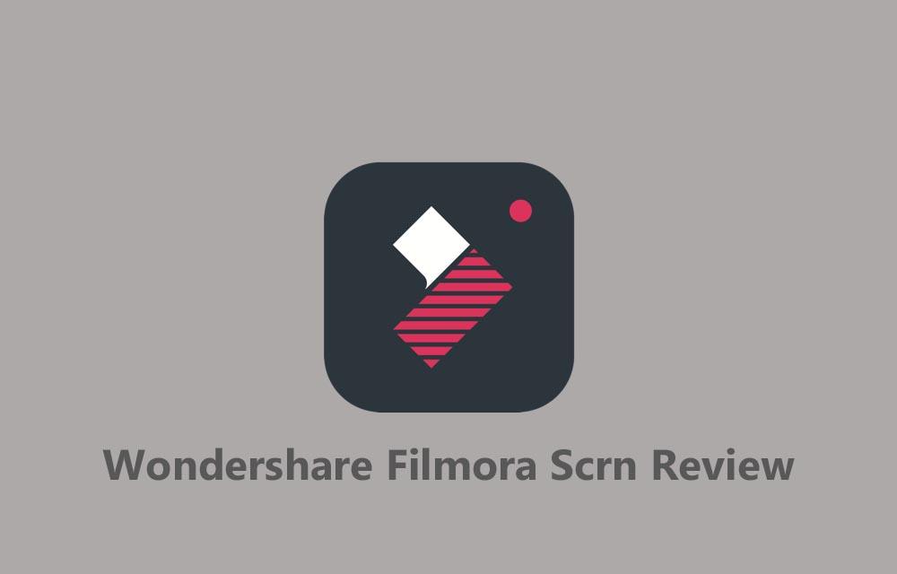 Wondershare Filmora Scrn Review