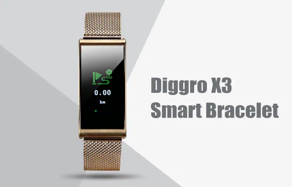 Diggro X3 Waterproof Smart Bracelet Review