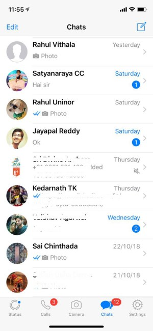 Available Chat Heads on WhatsApp