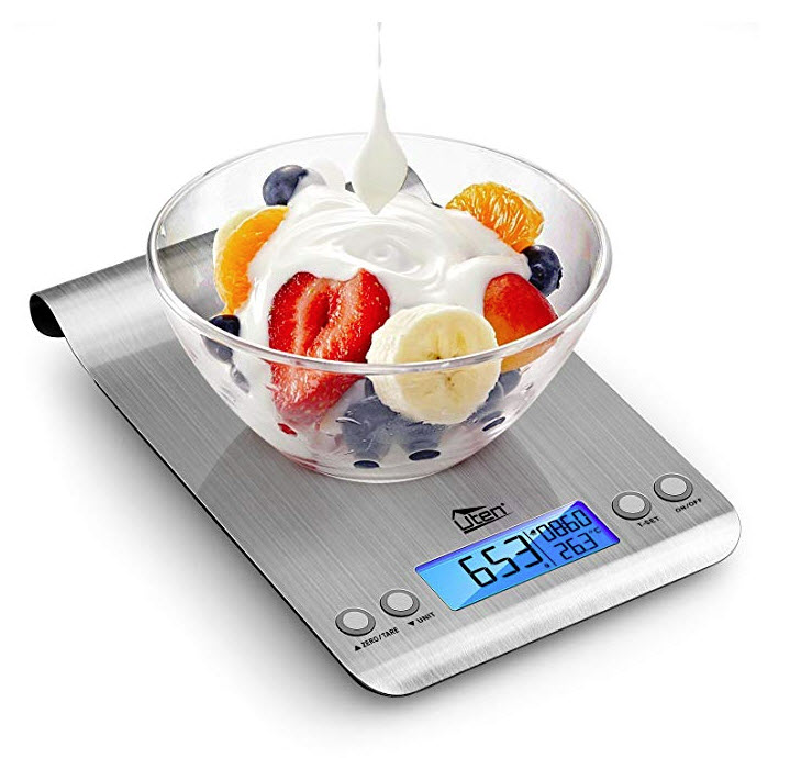 Digital Kitchen Scale Ultra Slim Multifunction Stainless Steel