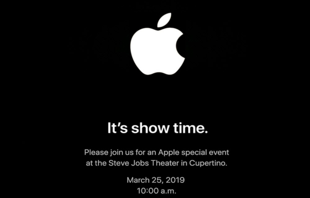 "Apple announced ""It's Show Time"" event on March 25"
