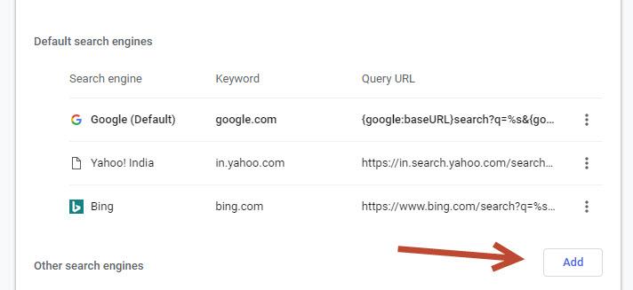 Add new search engine