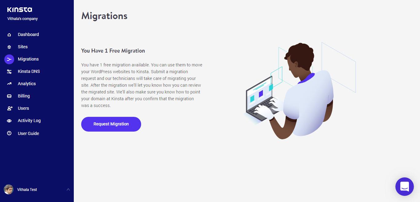 Kinsta Website Migration
