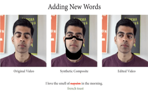 Deepfake algorithm to replace words from speech