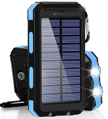 Dualpow Portable Dual USB 30,000 mAh Solar Power Bank