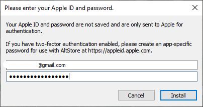 adding Apple ID Credentials