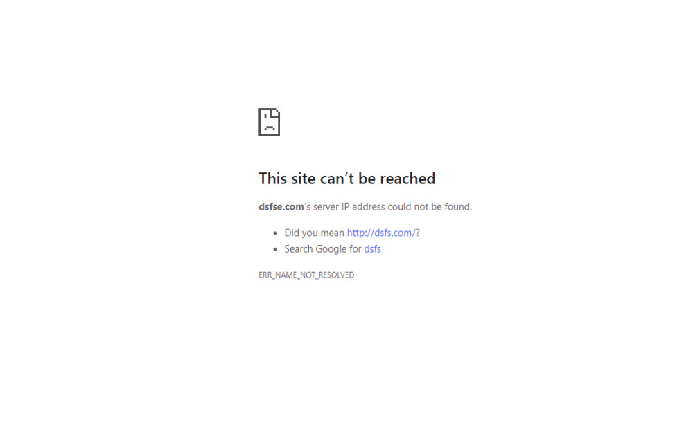 """How to fix """"This Site Can't Be Reached"""" Chrome Error"""