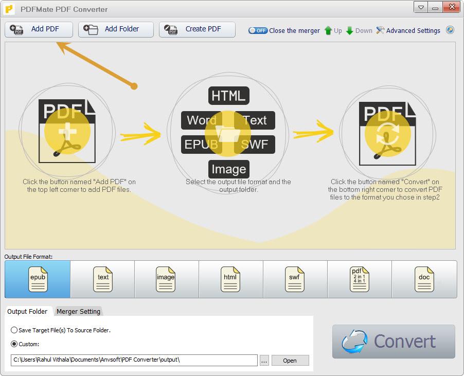 add PDF option in PDFMate PDF Converter