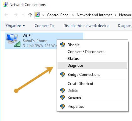 Diagnosing Wifi connection