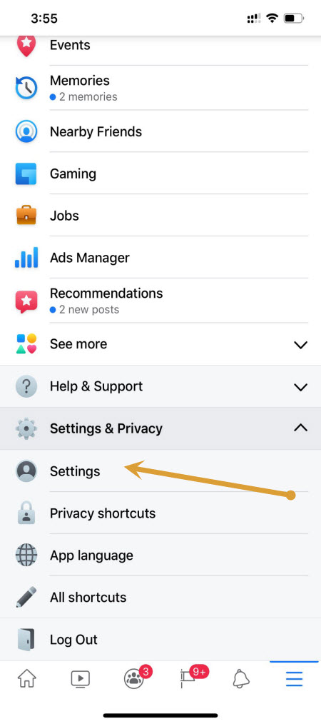 Facebook Settings-privacy