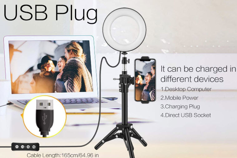 Mbuynow 16-inch LED Camera Ring light with stand