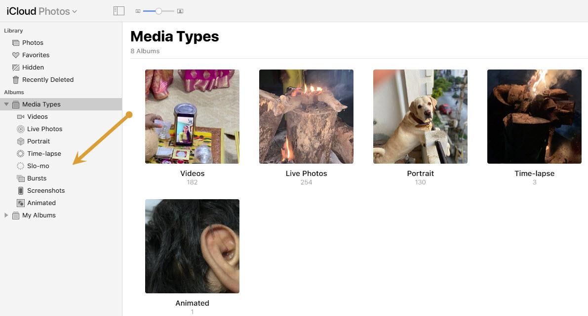 Media Types in iCloud