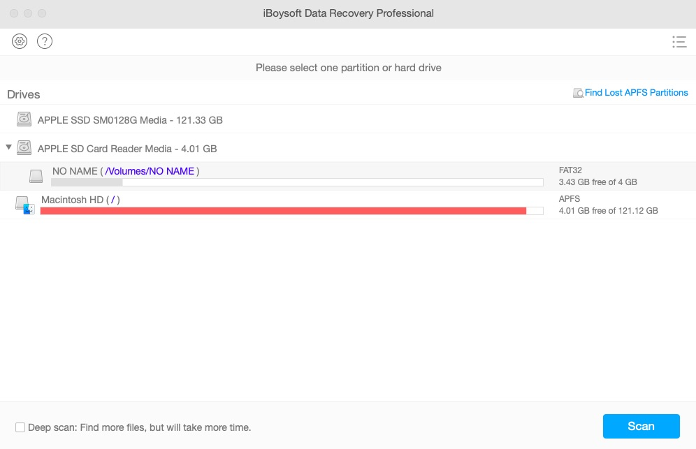 iBoysoft Data Recovery for Mac UI