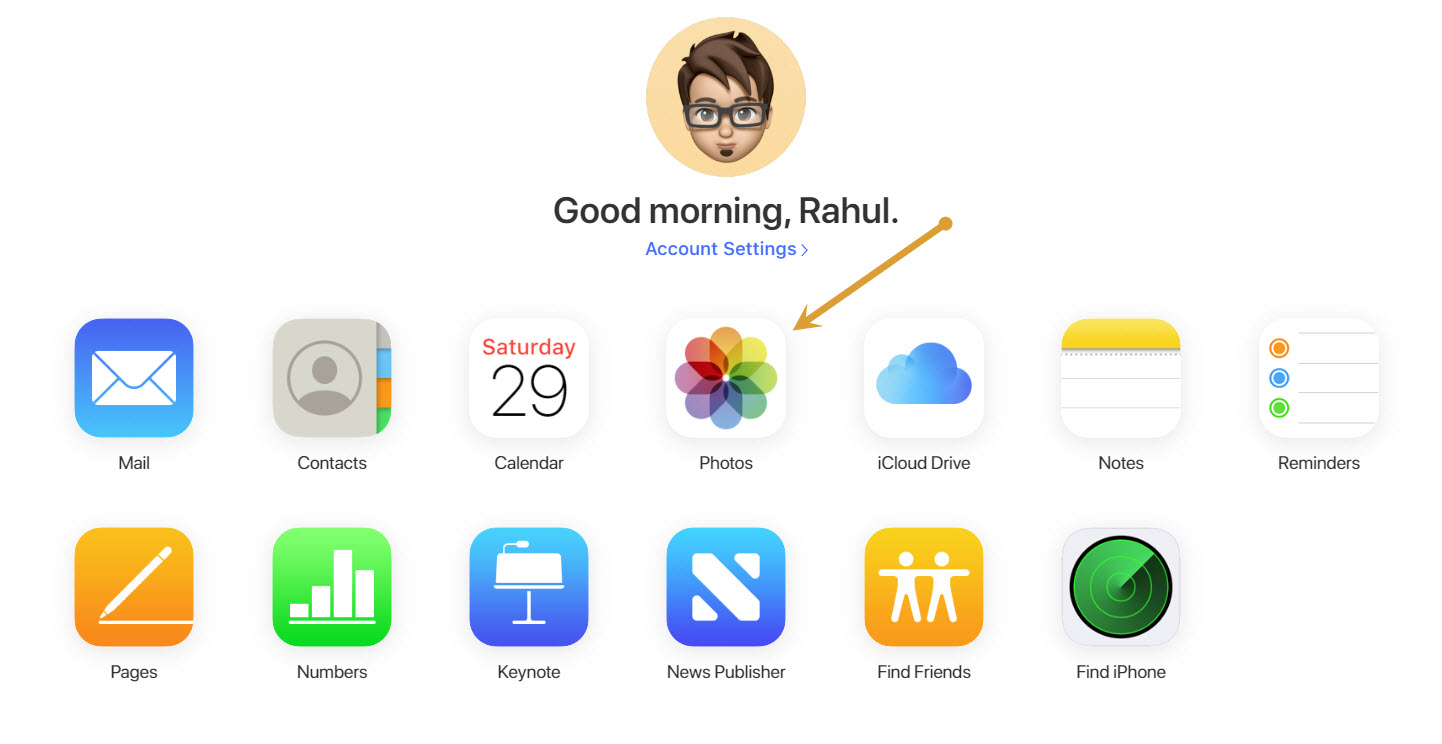 iCloud UI