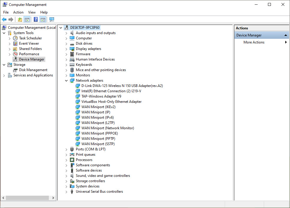Device Manager-Network Adapter