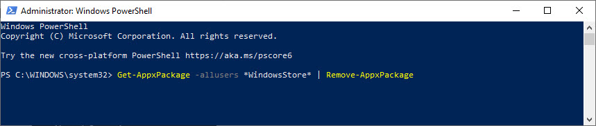 Remove packages command in PowerShell