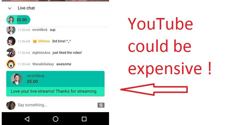 A chat message sent to your favorite YouTuber could cost you $500