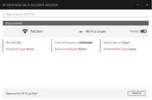 Bitdefender wifi security