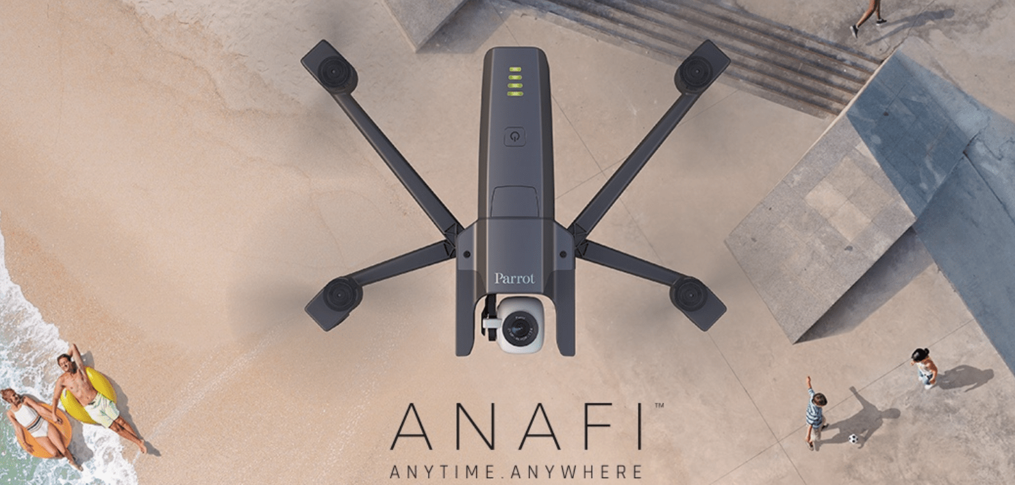 The Parrot Anafi Drone is looking up! -