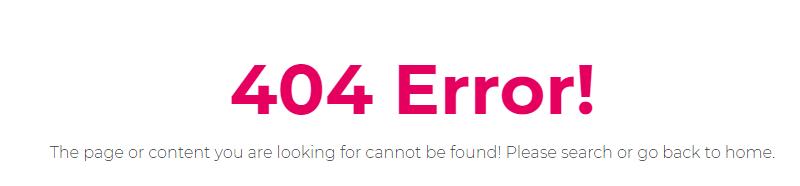 email do not do tip -404 error