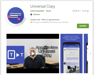 5 best Android apps - Universal Copy