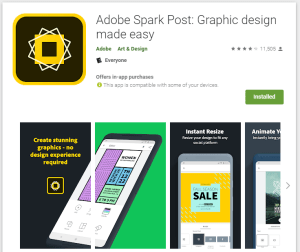 5 best Android apps - adobe spark post