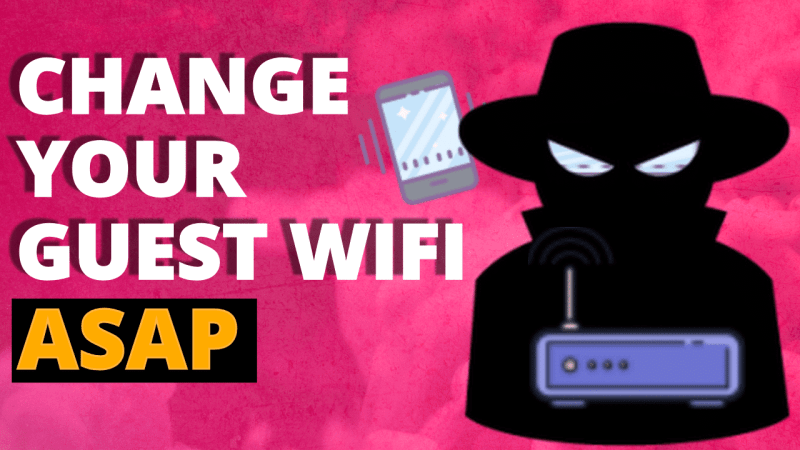 you MUST Enable guest wifi ASAP - here is how