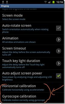 Galaxy Note - s-pen calibration