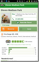 Trip Advisor Android app
