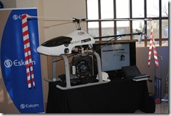 Innovation Summit - Hellicopter used to check Eskom line