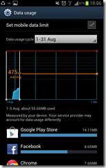 Galaxy Note ICS - Data Usage